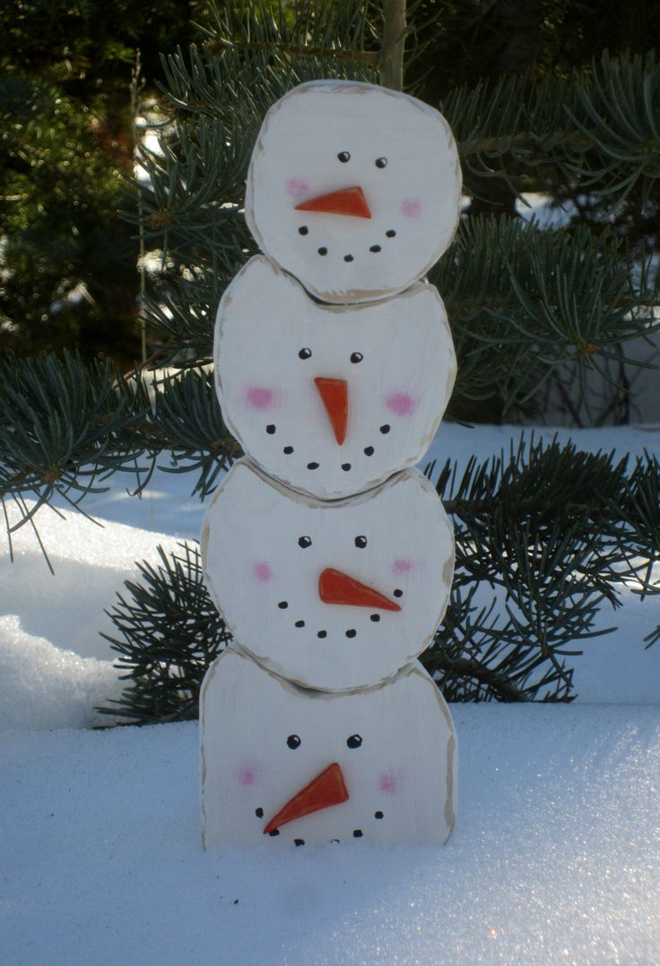 Pinspired Stacking Snowmen (Scroll Saw Winter Projects)