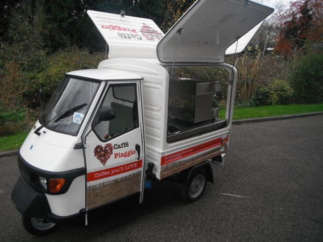 piaggio ape 50 cc coffee van mobile piaggio ape mobiles. Black Bedroom Furniture Sets. Home Design Ideas