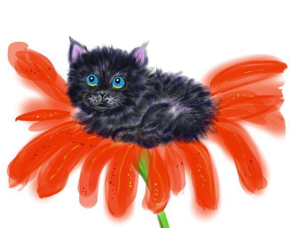 Spookie in a Flower 1 by TollerStudio on Etsy