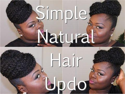 {Natural Hair} Simple Updo using Marley Hair Tutorial - YouTube