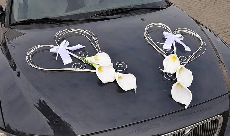 svatební srdce na auto kaly