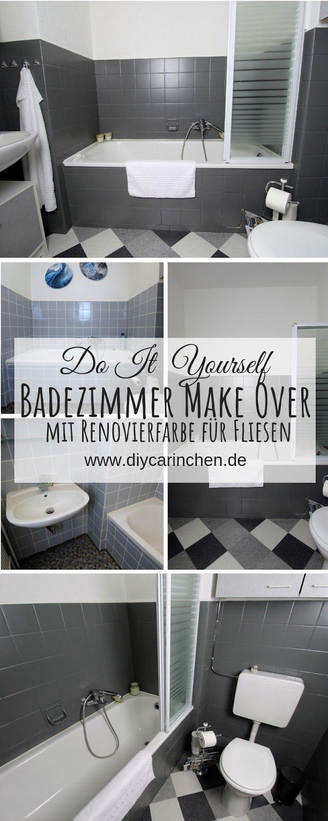 DIY: Badezimmer streichen und renovieren mit Fliesenfarbe ...