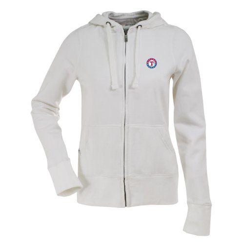 MLB Texas Rangers Women's Signature Hood, White, Large  http://allstarsportsfan.com/product/mlb-texas-rangers-womens-signature-hood-white-large/  80% Cotton, 20% Polyester Full Zip Hood Team Logo Embroidered On The Left Chest