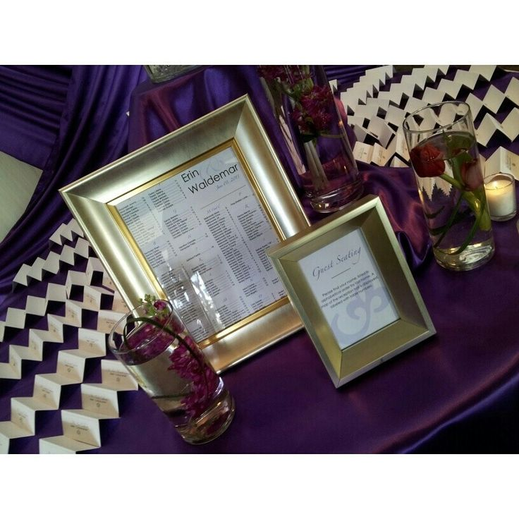 Escort Cards. Seating Chart.