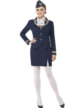 Adult Airways Attendant Costume by Fancy Dress Ball