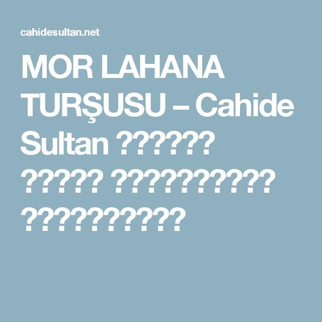 MOR LAHANA TURŞUSU – Cahide Sultan بِسْمِ اللهِ الرَّحْمنِ الرَّحِيمِ