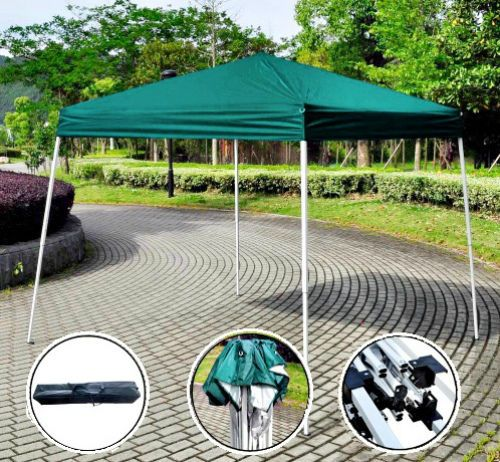 3x3m Pop Up Gazebo Folding Tent Waterproof Patio Sun Shade Green Party Marquee   #GoPlus #PopupGazebo