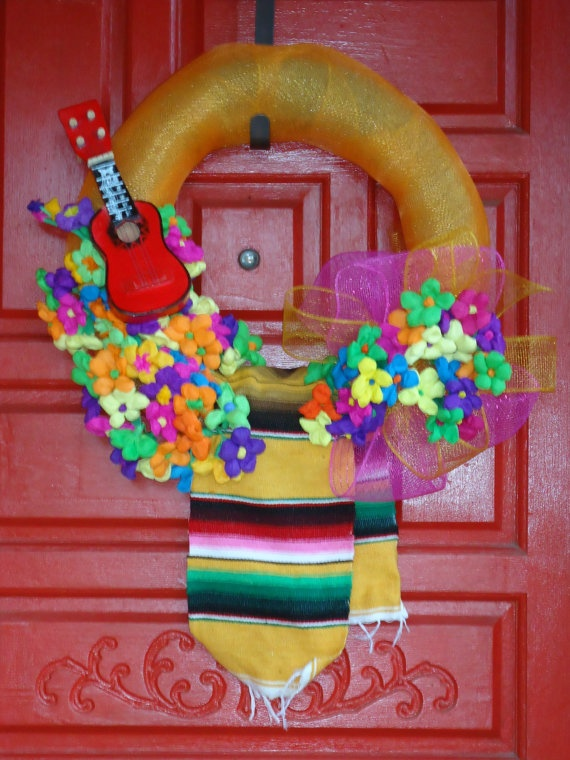 Fiesta Wreath by SweetPeainLa on Etsy, $65.00