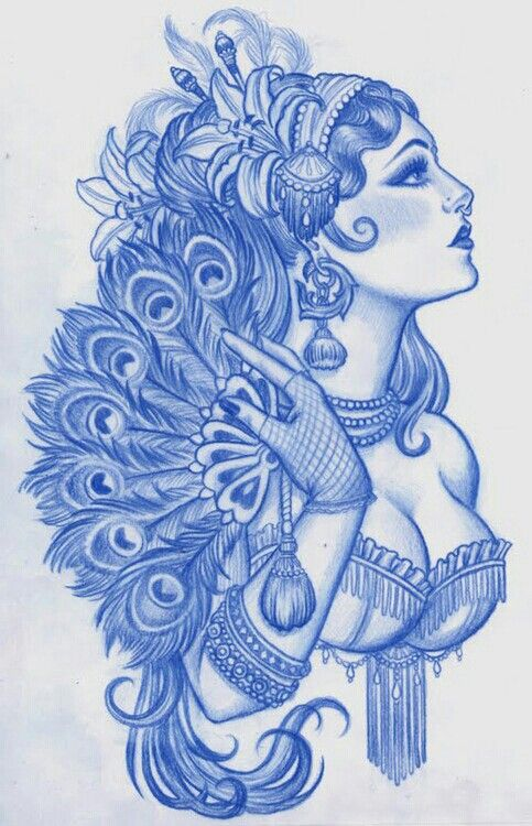 Burlesque #tattoo #artwork Never considered getting a person tattoo, until I saw this!! Wow