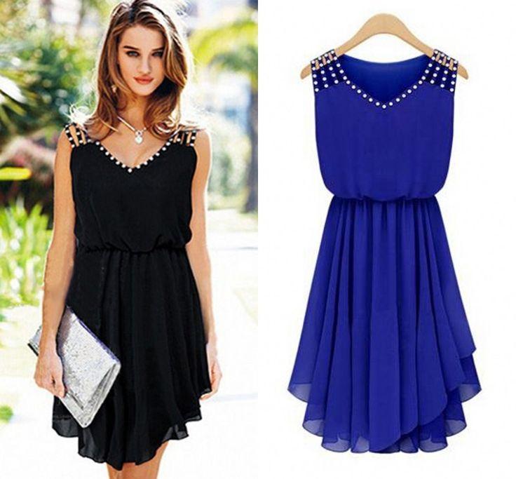 plus size casual jurken nieuwe 2014 vrouwen casual zomer gezellige elegante edele vestidos meisje jurken chiffon sexy vestidos de fiesta