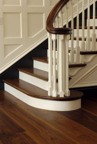 Beautiful Dark Walnut Hardwood Flooring and staircase from Carlisle Wide Plank Floors