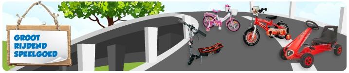 Fietsen, Skelters, Accuvoertuigen, Steppen, Driewielers en nog veel meer rijdend speelgoed vind je bij Toys XL: http://www.toysxl.nl/alle-categorieen/fietsen-groot-rijdend-speelgoed