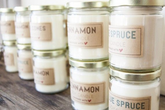 soy candle tutorial   labels