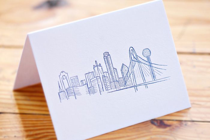 Boutique Graphic Design Firm Southern Fried Paper Has A Collection Of Cards And Art Prints All Made In Dallas Featuring Locally Inspired I