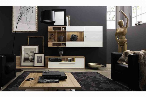 Elegant blck living room interior design ideas with picture frame and windows designs also leather sofa soft sponge complete cushion and small beige wooden table also carpeted flooring idea that have curved round lighting in night decorating