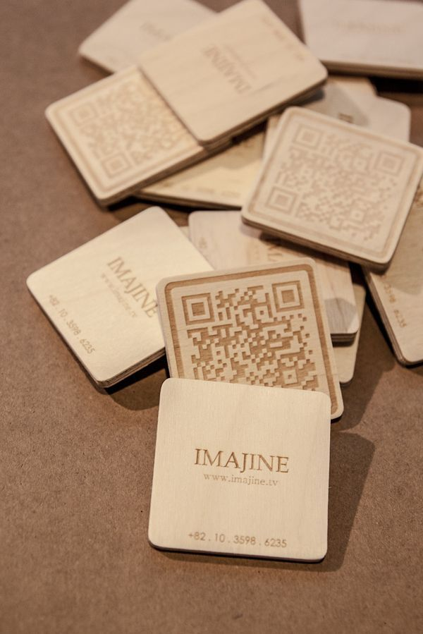 Imajine Plywood Businnes Cards Lasercut Lasergravur