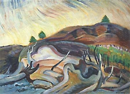 Emily Carr-Group of Seven- Flung Beyond The Water