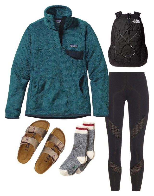 """Lazy high schooler starter pack a.k.a trash"" by osimmonds on Polyvore featuring adidas, Patagonia, TravelSmith and The North Face"