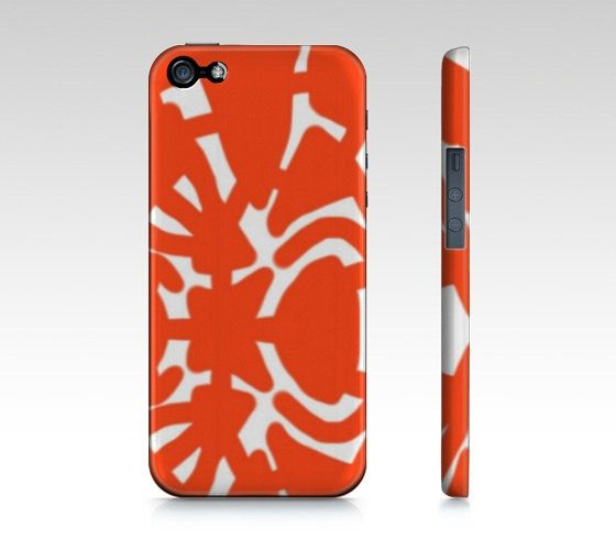 "House of Birdie ""Analog"" (orange, rose, royal purple, or black) mobile phone case by HOUSE OF BIRDIE - art on the go - Phone 5/5S, iPhone 4/4S, Samsung Galaxy S5, Samsung Galaxy S4, Samsung Galaxy S3."