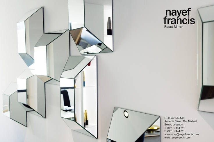 facet mirror with its beveled mirrors on a wooden base you and your entire surroundings are reflected through the facet mirror make your own