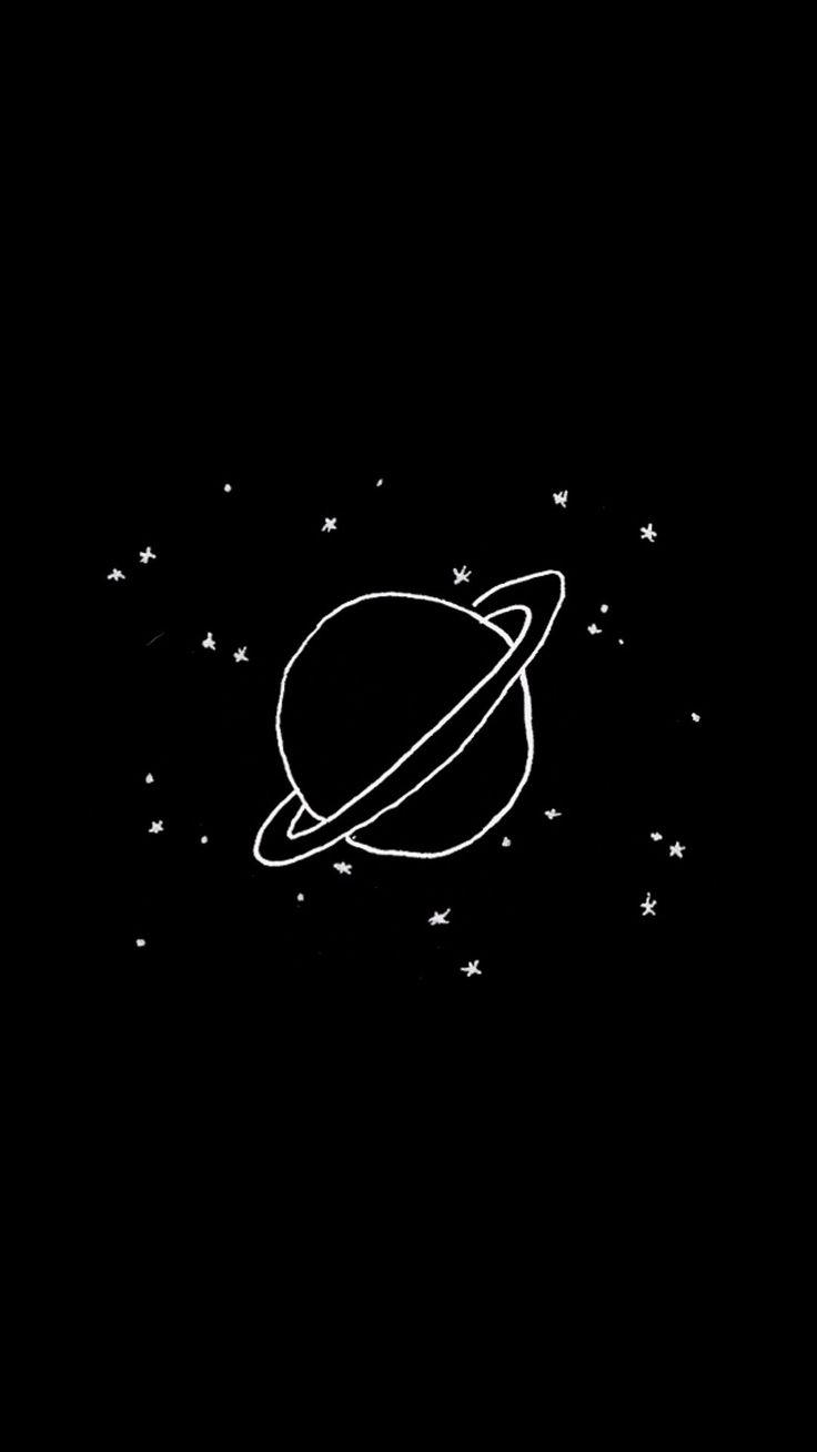 aesthetic blackaesthetic space planet screens