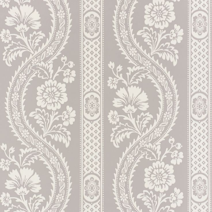 Provincial Floral / Stripe Pattern With A Slightly Distressed Look And Feel.