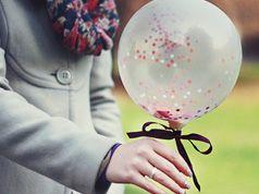 Globo relleno de confetti