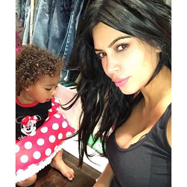 Pin for Later: The Best Celebrity Mother-Daughter Duos of 2015 Kim Kardashian and North West