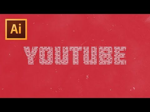 """How To Create The """"Text In Text"""" Effect In Illustrator - YouTube"""