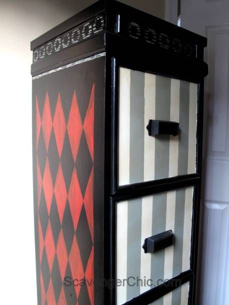 Painted File Cabinet, File Cabinet Makeover