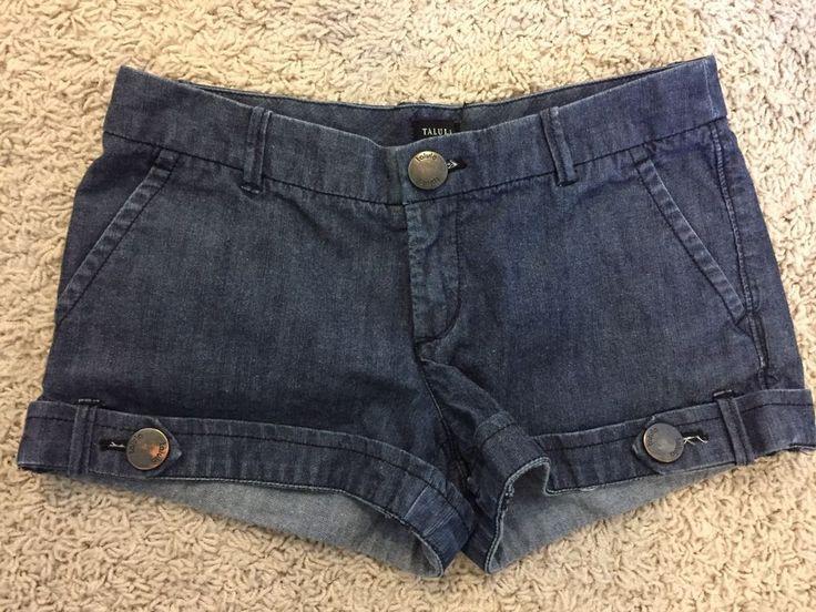 Aritzia TALULA Women's Ladies Size 2 Shorts Blue Denim Jean