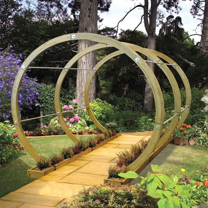 39 best images about garden pergola on pinterest gardens for Domestic garden ideas