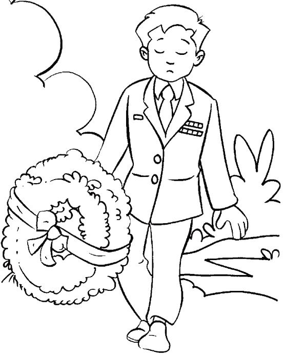 Remembrance Day Death Coloring Page