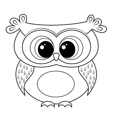 Cartoon Owl coloring page from Owls category. Select from 20946 printable crafts of cartoons, nature, animals, Bible and many more.