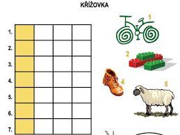 Výsledek obrázku pro jednoduché křížovky pro děti