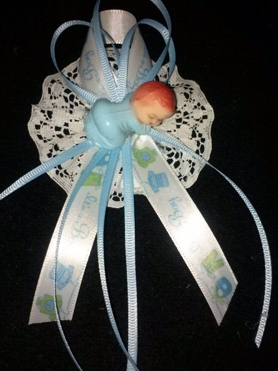 One Dozen of Baby Shower Favor Capias for Boy by LiviWear on Etsy, $18.00