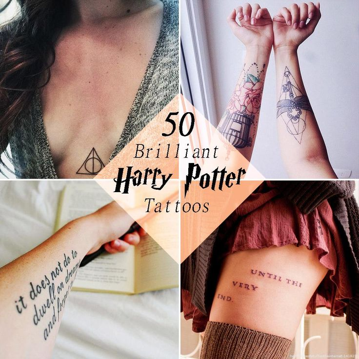 Harry Potter Tattoos The invisible ink ones are AWESOME!