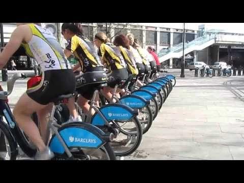 Boris Bike Spin Class Flashmob