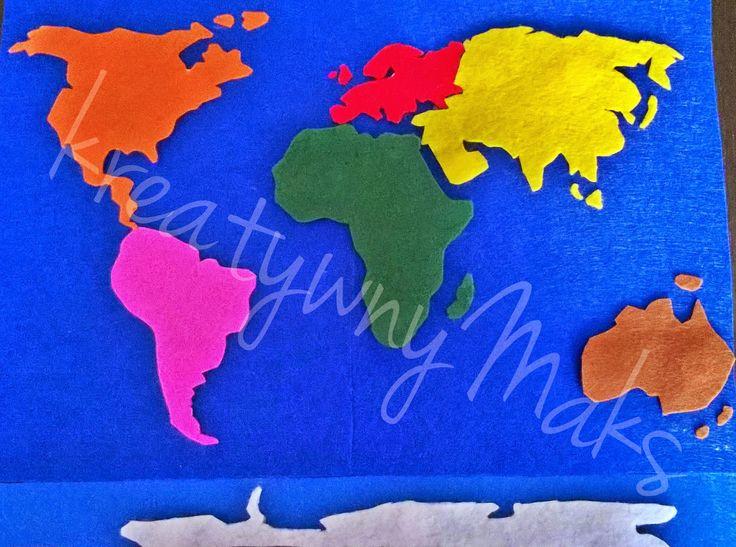 kreatywnyMaks: Nauka Kosmiczna - Kontynenty