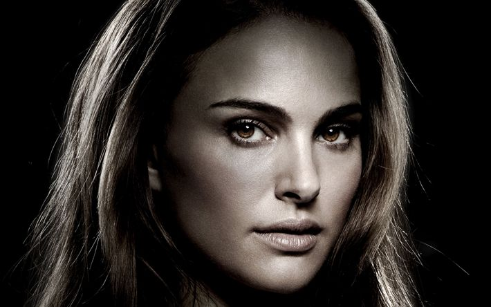 Download wallpapers Natalie Portman, 4k, portrait, Thor, Jane Foster, American actress