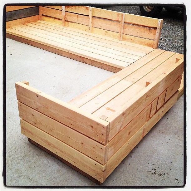 Ana White Build A Platform Outdoor Sectional Free And Easy DIY Project An