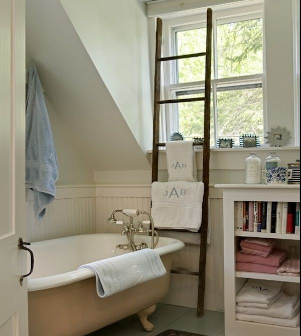 Best Towel Ladders Images On Pinterest Towel Racks Th - Bathroom towel hanging ideas for small bathroom ideas