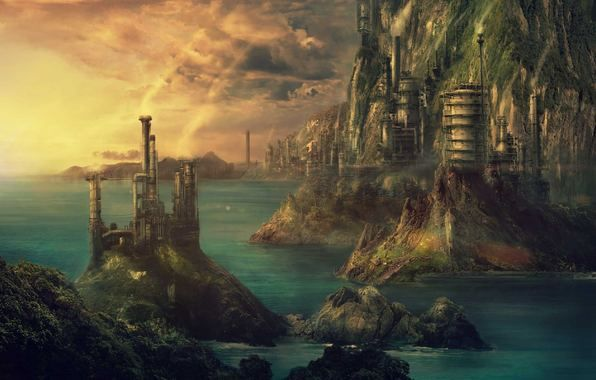 steampunk landscape by grimdreamart - photo #40