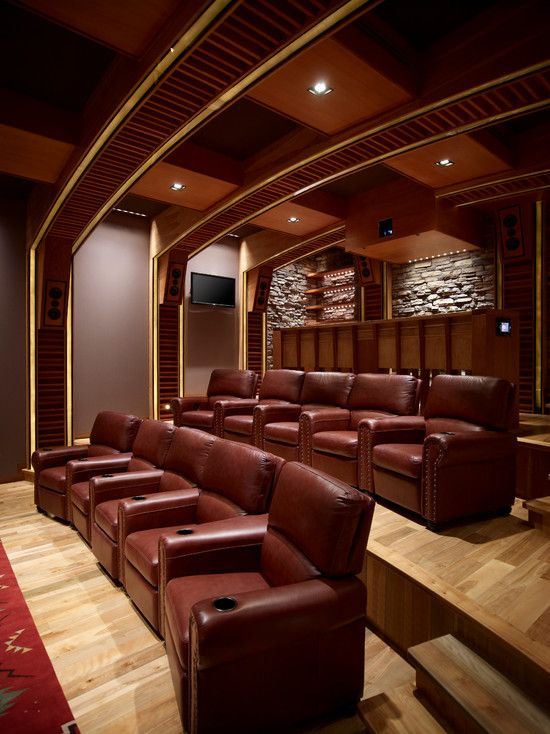 Media Room Design Pictures Remodel Decor And Ideas Page 7 Pinterest Home Theater Rooms