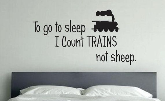 TRAIN Room Decor To go to sleep I count TRAINS by JandiCoGraphix