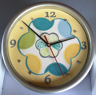 Fun way to decorate a clock using CTMH Dotty For You collection