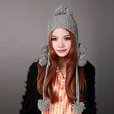 Deniso-1157, Invierno Mujer Ear Flap Knit Hat (Multi-Color disponible) – CLP $ 24.251