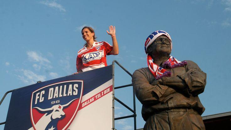 Tobin Heath || Lamar Hunt scarfing ceremony - FC Dallas (July 4, 2013)