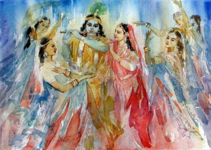 Radha  With Krishna& OthEr GopiEs... <3