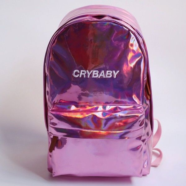 BLACK FRIDAY SALE KOKO HOLOGRAPHIC CRYBABY BACKPACK ($80) ❤ liked on Polyvore featuring bags, backpacks, holographic backpack, holographic bag, daypack bag, backpack bags and pu backpack